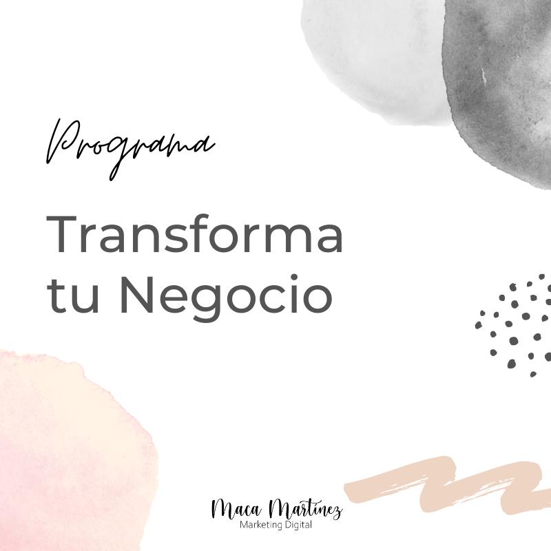 Programa Transforma tu Negocio